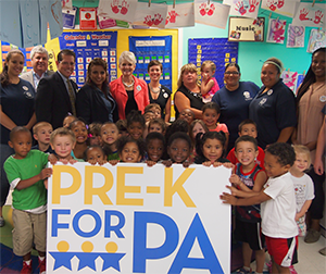 Pre-K for PA visits the Center